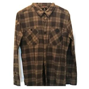 Soft Plaid Army Green Button Down